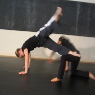 """Lisa Orig and Nicole Young in """"Not If But When"""" from Upside-Down Dance's first show in Honolulu!"""